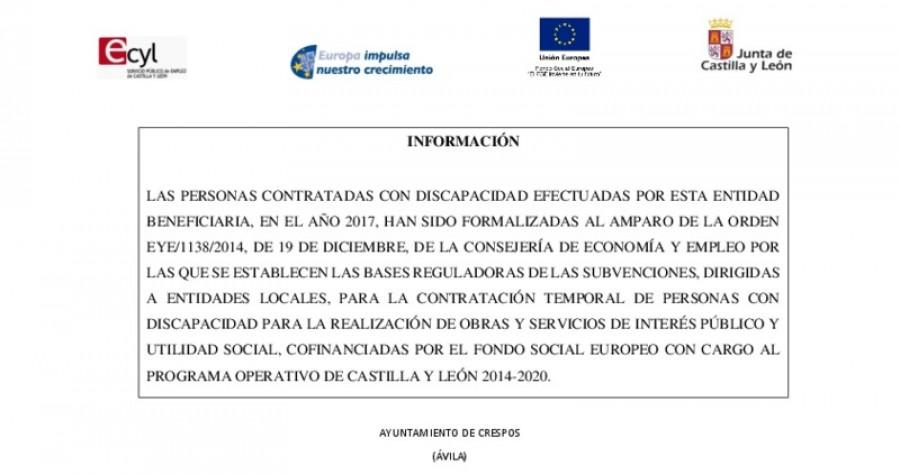 Contrato discapacitados 2017