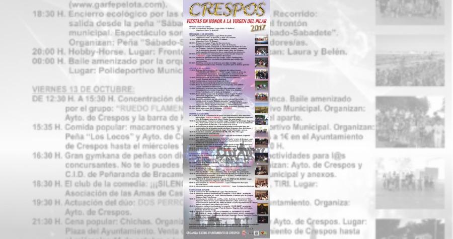 Fiestas en honor a la virgen del pilar 2017 crespos